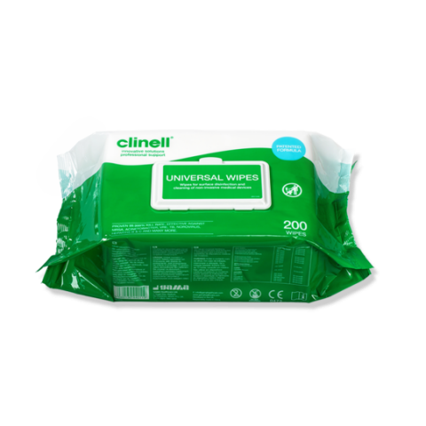 Clinell - Desinfiointipyyhe 200 kpl
