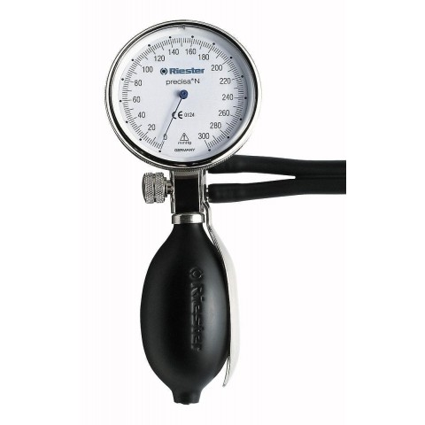 Riester Precisa N aneroid sphygmomanometer, plastic/metal version, adult cuff included