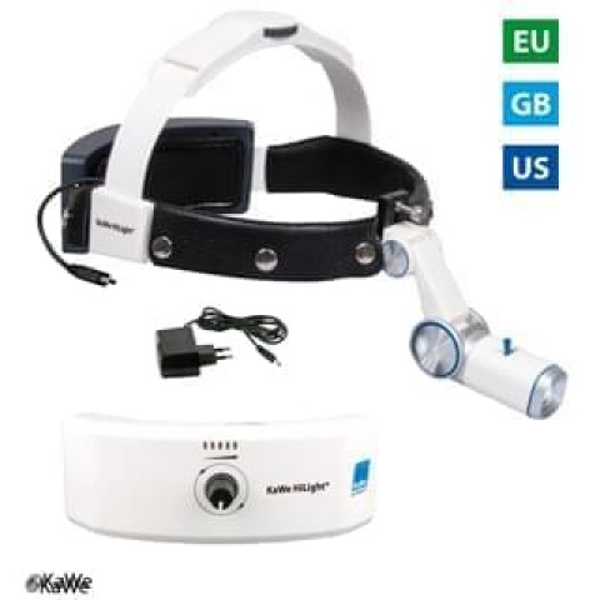 KaWe LED Head lamp H-800 with accumulator for headband, plug