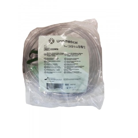 Oxygen mask for children, 2.1m with hose.