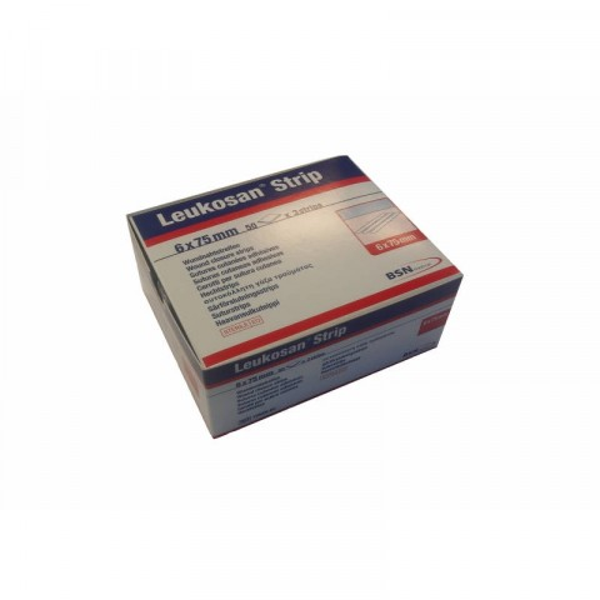 Leukosan Strip Wound Closure Tape 6 x 75 mm, 50 pcs