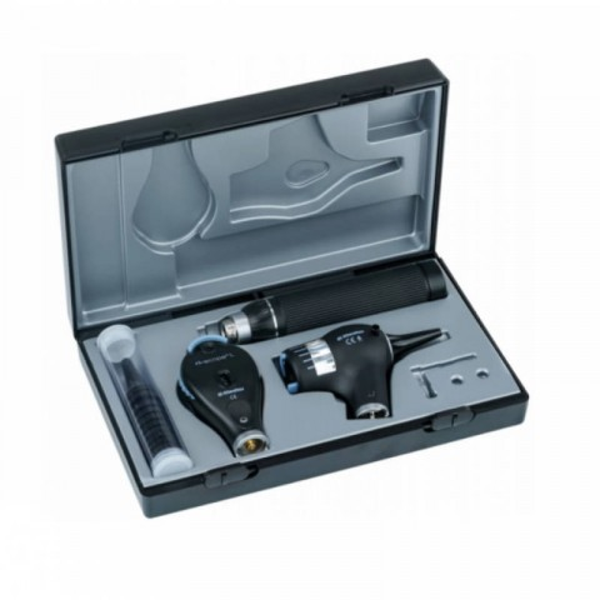 Riester EliteVue oto-/ophthalmoscope L2 set, LED 3.5 V + 2 C-Handles + 2 Li-ion Batteries + Desk Charger