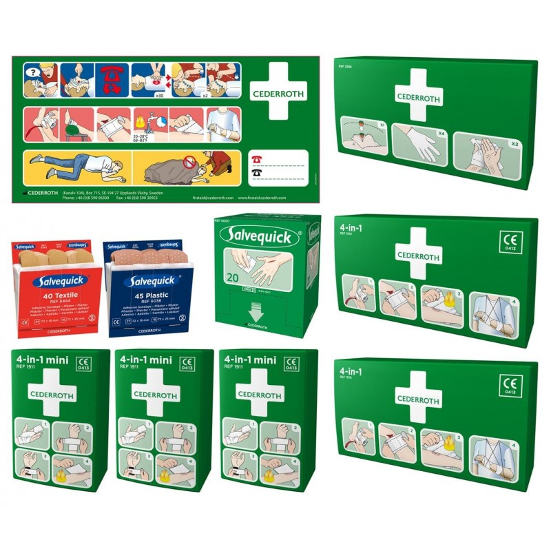 Medkit Finland Cederroth Refill Kit For First Aid