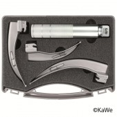 KaWe Macintosh C Laryngoscope Set, adults, 1 handle + 3 blades