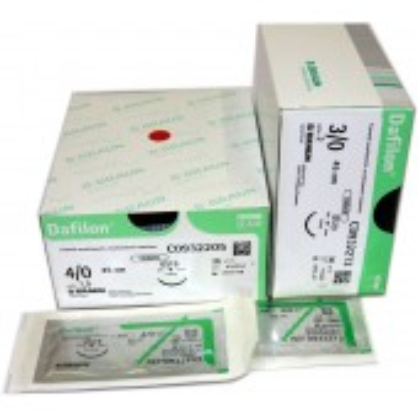Dafilon blue suture material, non-absorbable, 36 pcs/pkg
