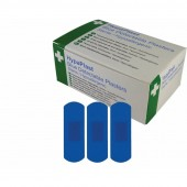 HypaPlast Blue Catering Plasters, 7.2x2.5cm (pack of 100).