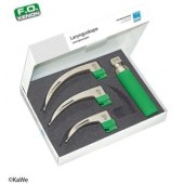 KaWe Macintosh F.O. Laryngoscope Set, adults, 1 handle + 3 blades
