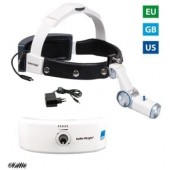 KaWe LED Head lamp H-800 with accumulator for headband, plug