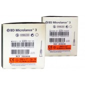 BD Microlance 3 needle, 25 G, orange