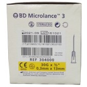 BD Microlance 3 needle, 30 G 0,3 x 13 mm, yellow