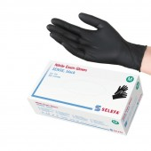 SELEFA-Nitrile SENSE, black, size M