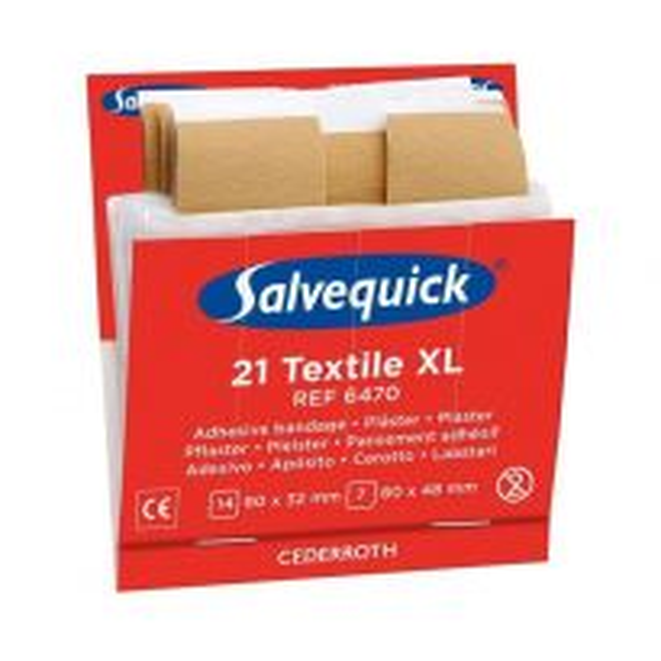 Cederroth Salvequick Textile XL, 6 refills