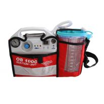 Accuvacu OB1000 Portable Suction Unit with charging wall bracket