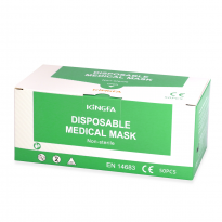 Kingfa Type IIR Surgical mask, 50 pcs, Disposable, green package